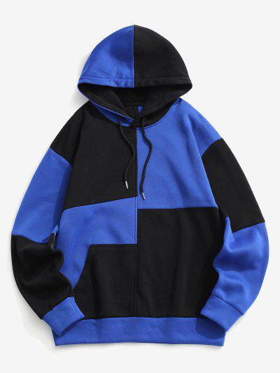 Fleece-Lined Colorblock Hoodie