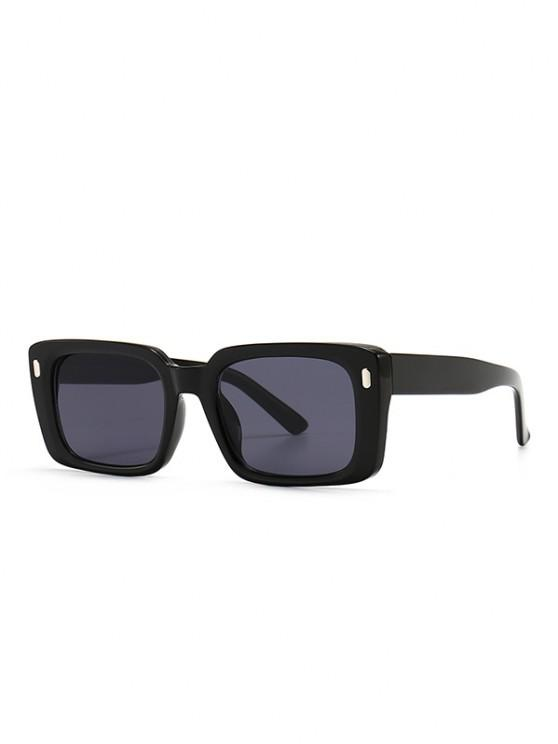 Retro Square Outdoor Sunglasses - أسود