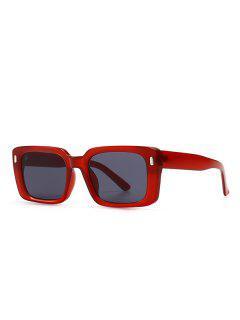 Retro Square Outdoor-Sonnenbrillen - Rot