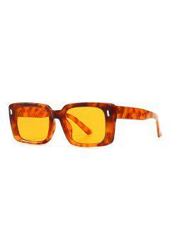 Retro Square Outdoor Sunglasses - Leopard