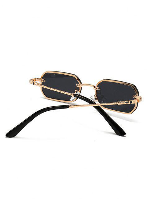 Gafas de Sol Irregulares Grabado de Metal - dorado  Mobile