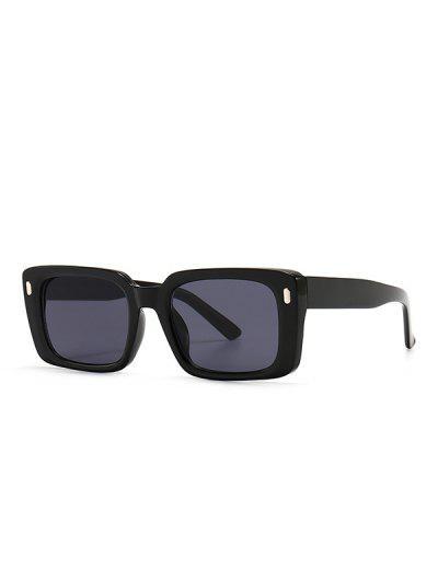 Retro Square Outdoor-Sonnenbrillen - Schwarz