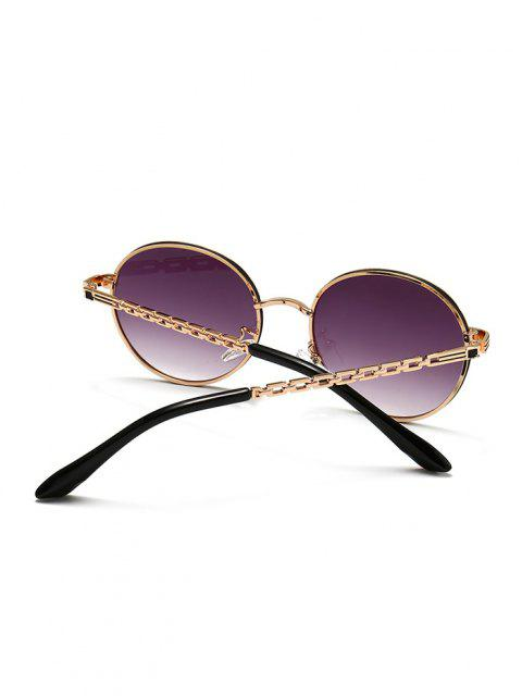 online Hollow Out Temple Metal Round Sunglasses - VIOLA PURPLE  Mobile