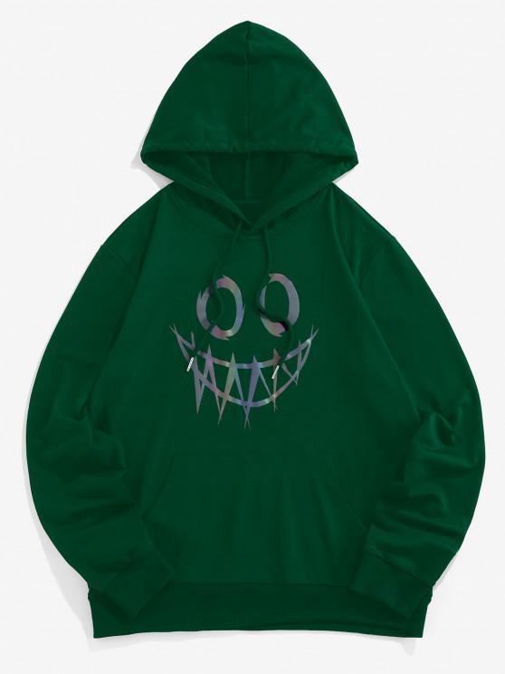 ZAFUL Sweat à Capuche Lumineux Imprimé Dessin Animé avec Poche Kangourou - Vert profond XL