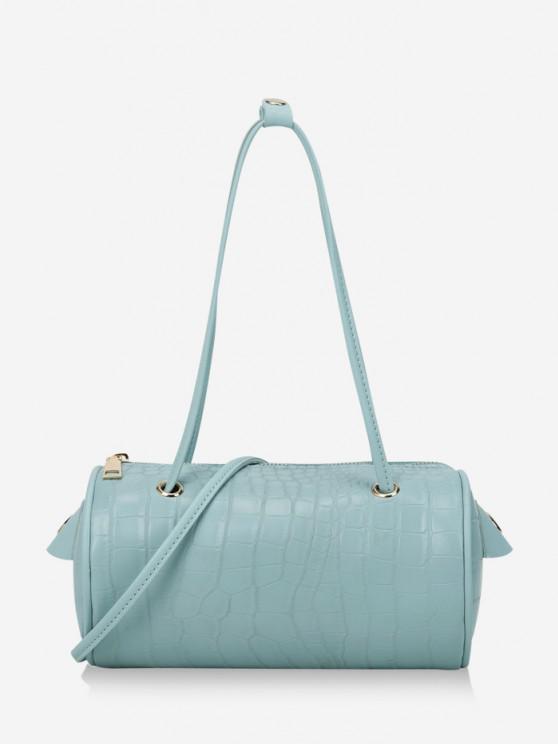 fashion Solid Cylinder Mini Crossbody Shoulder Bag - LIGHT SKY BLUE