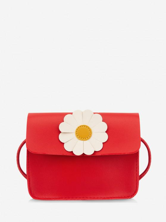 buy Daisy Flower Pattern Crossbody Bag - RED