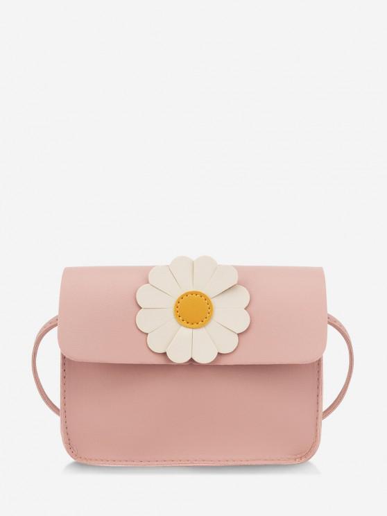 womens Daisy Flower Pattern Crossbody Bag - LIGHT PINK