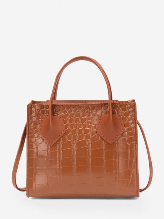 online Square Solid Crossbody Bag - LIGHT BROWN