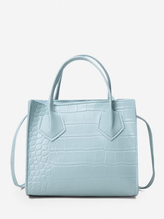 hot Square Solid Crossbody Bag - BABY BLUE
