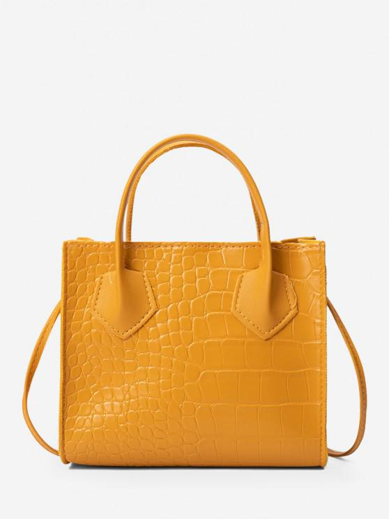 outfit Square Solid Crossbody Bag - BEE YELLOW