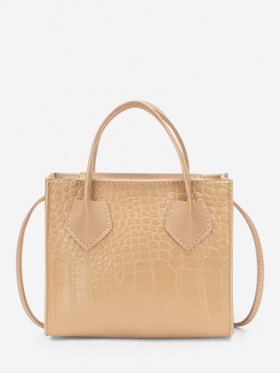 outfits Square Solid Crossbody Bag - BLANCHED ALMOND
