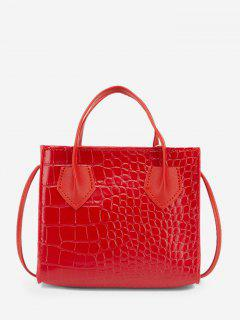 Square Solid Crossbody Bag - Ruby Red