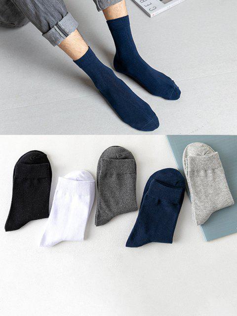 Ensemble de Chaussettes en Couleur Unie en Coton 5 Paires - Multi  Mobile