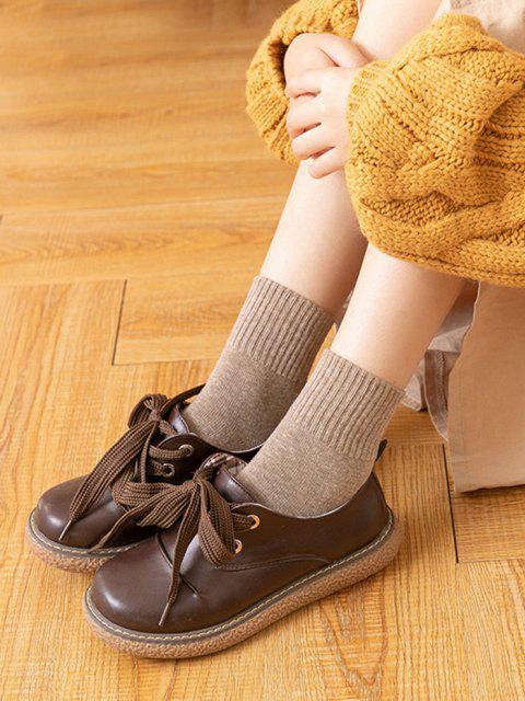 new Cotton Solid Mid-calf Length Socks - MULTI  Mobile