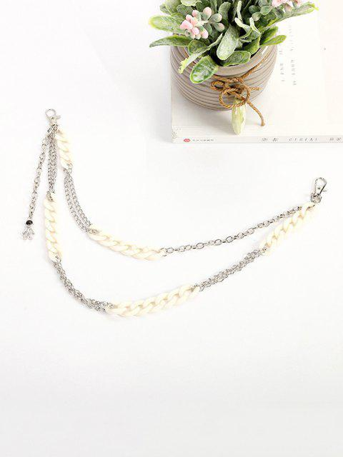 buy Acrylic Metal Layers Trousers Chain - SILVER  Mobile