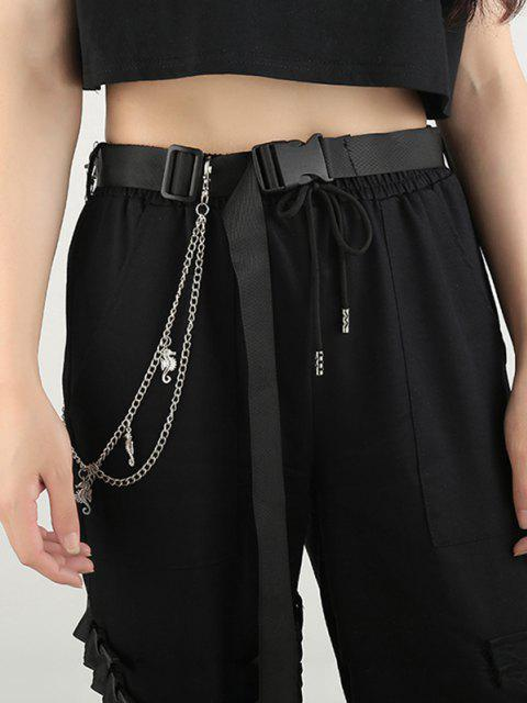 ladies Sea Horse Pendant Layered Trousers Chain - SILVER  Mobile