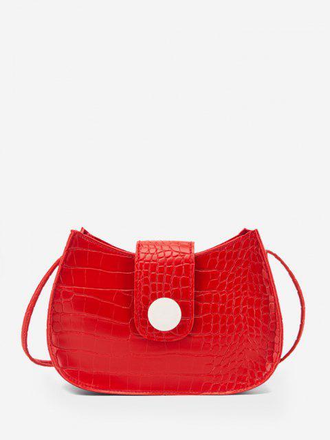 Bolso Cruzado Texturado Botones - Rojo  Mobile
