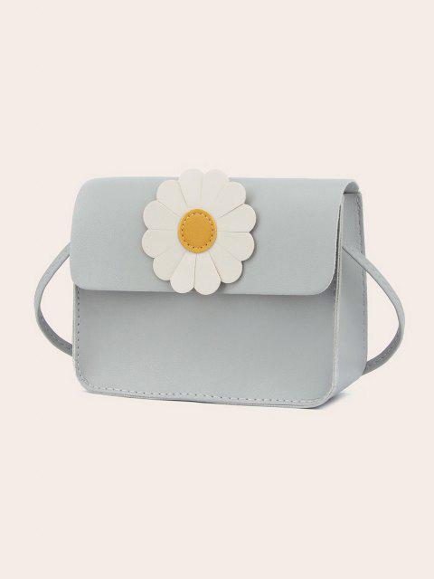 Daisy Flower Pattern Crossbody Bag - سحابة رمادية  Mobile