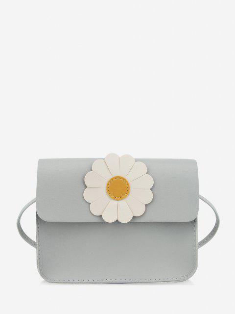 Bolsa Cruzada Estampado Floral Manga Larga - Nube Gris  Mobile