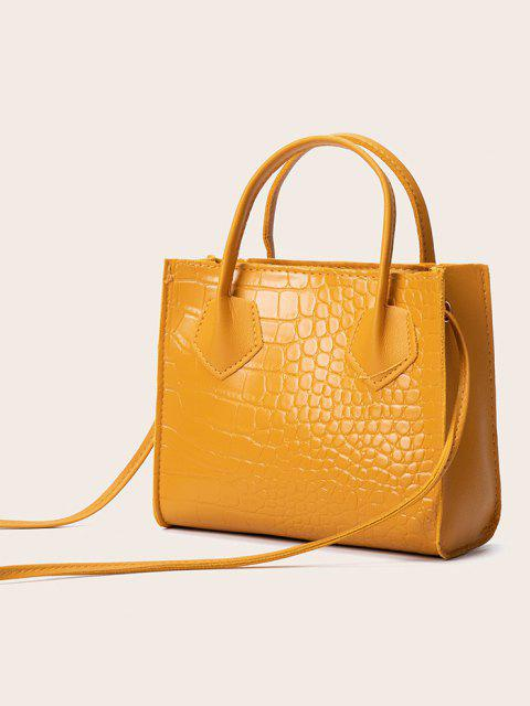 outfit Square Solid Crossbody Bag - BEE YELLOW  Mobile