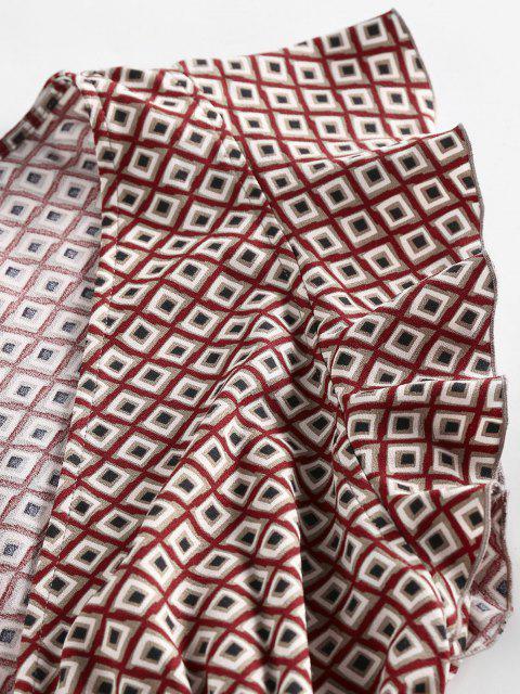 ZAFUL Mini Robe Plongeante Géométrique à Manches Papillon - Multi L Mobile