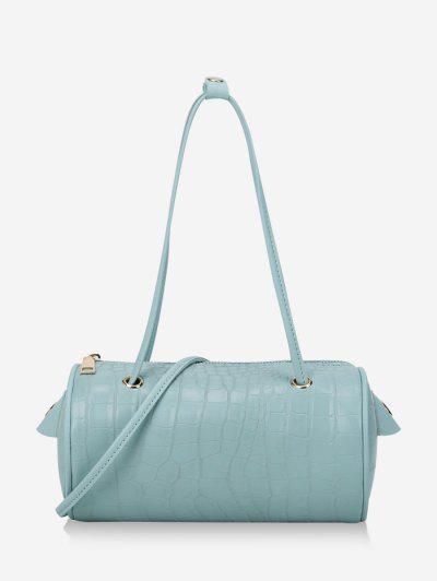 Solid Cylinder Mini Crossbody Shoulder Bag - Light Sky Blue
