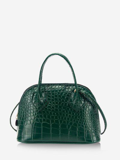 Bolsa Cruzada Relieve Animal Doble Correa - Verde Oscuro