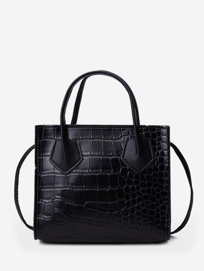 Square Solid Crossbody Bag - Black