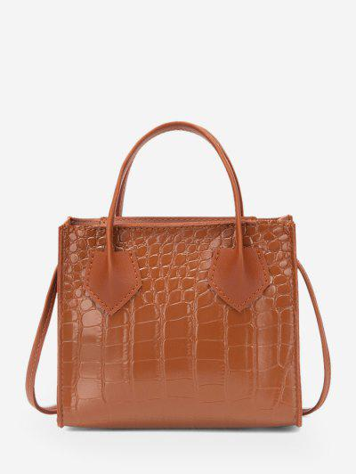 Square Solid Crossbody Bag - Light Brown