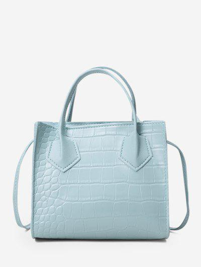 Square Solid Crossbody Bag - Baby Blue