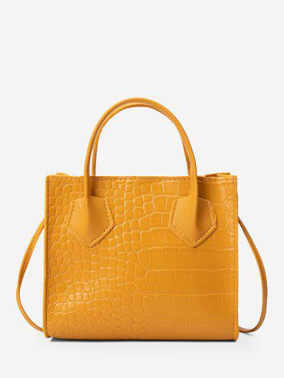 Square Solid Crossbody Bag - Bee Yellow