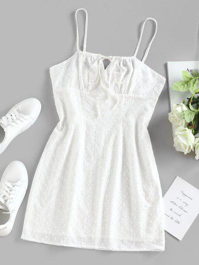 ZAFUL Buraco Da Fechadura Voltar Villi Mini Vestido - Branco S