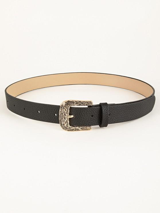 shops Engraved Dragon Pin Buckle Belt - BLACK