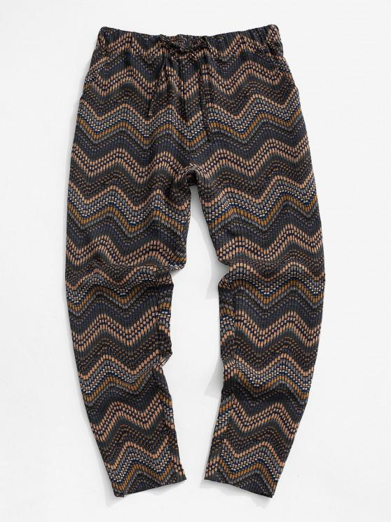 latest Tribal Chevron Pattern Pants - MULTI M