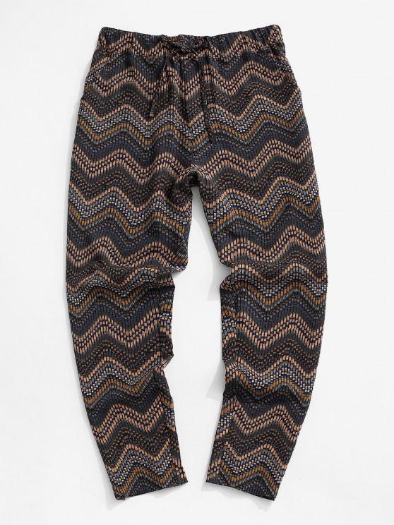 fashion Tribal Chevron Pattern Pants - MULTI 2XL