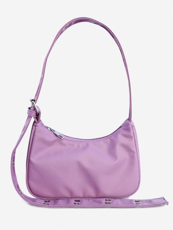 outfits Simple Style Wide Strap Shoulder Bag - VIOLET