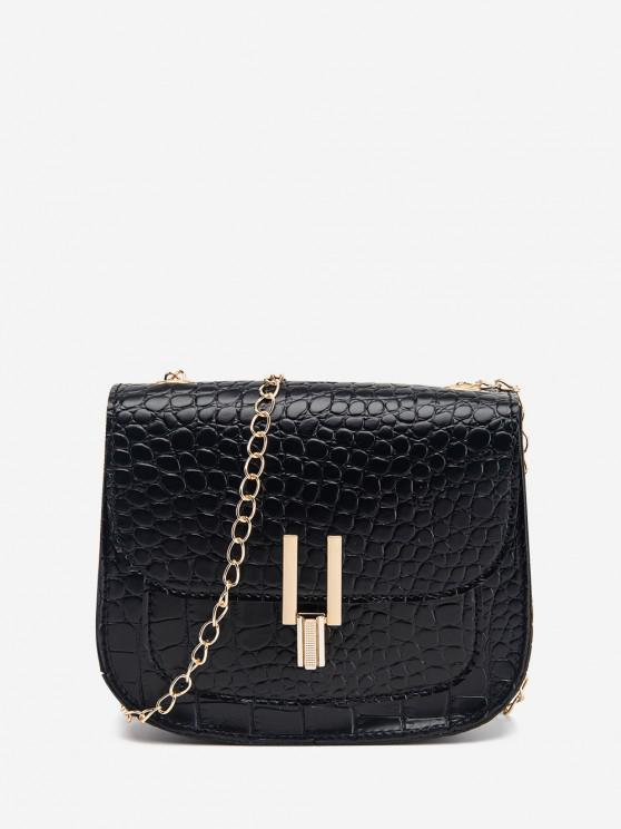 shop Mini Flap Chain Crossbody Bag - BLACK