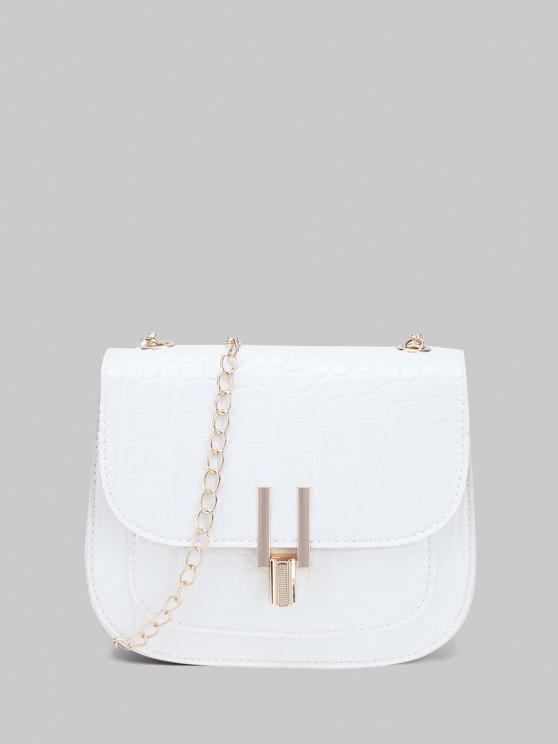 shops Mini Flap Chain Crossbody Bag - WHITE