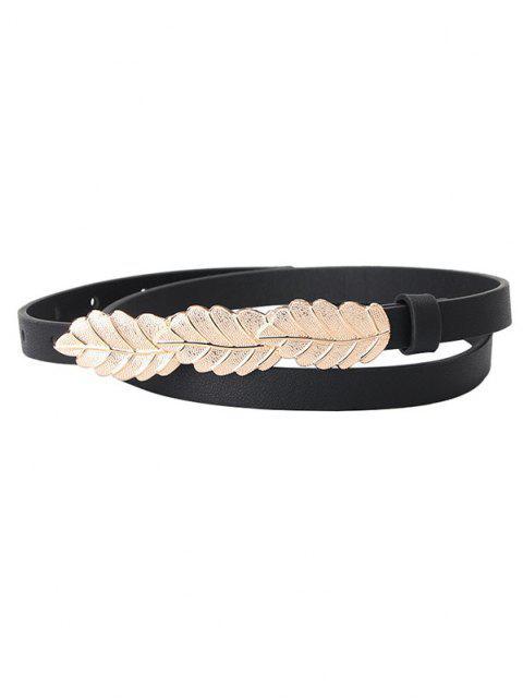 online Leaves Shape Dress Waist Belt - BLACK  Mobile
