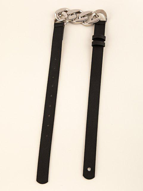 hot Chain Spliced Waist Belt - BLACK  Mobile