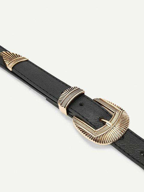 Cinto de Cintura com Fivela Dupla - Preto  Mobile