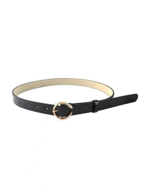 Cinturón Forma Serpiente Tallado - Negro  Mobile