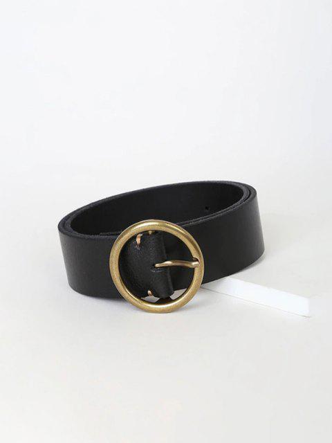 affordable Casual Circular Pin Buckle Belt - BLACK  Mobile