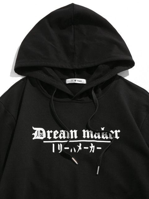 shop ZAFUL Dream Maker Flower Hoodie - BLACK L Mobile