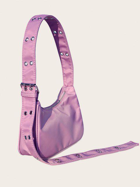 outfits Simple Style Wide Strap Shoulder Bag - VIOLET  Mobile