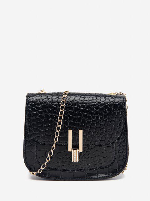 shop Mini Flap Chain Crossbody Bag - BLACK  Mobile