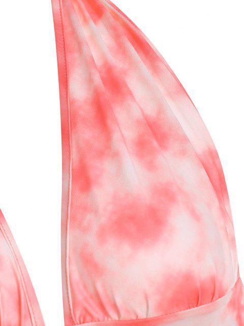 Blusa Top Barriga de Fora Frente Aberta com Laço Cortado nas Costas - Luz rosa M Mobile