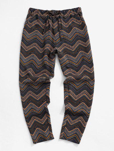 Tribal Chevron Pattern Pants - Multi L