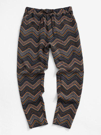 Pantalones Estampado Tribal Chevron - Multicolor Xl
