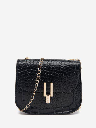 Mini Flap Chain Crossbody Bag - Black